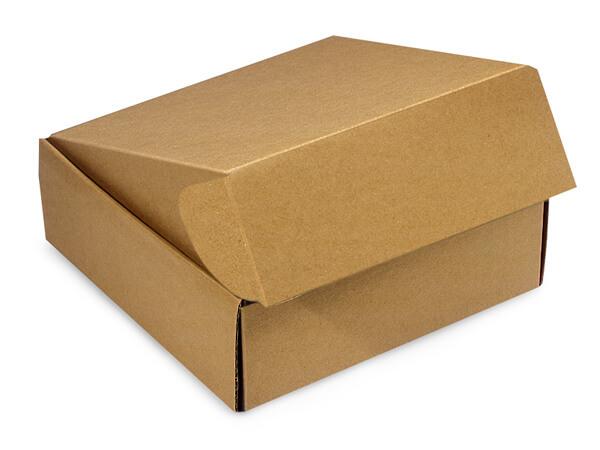 """Kraft Gourmet Shipping Boxes 6x6x2"""" Auto Lock Boxes"""