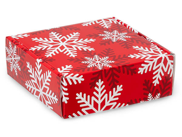 Red Snowflake Shipping Boxes