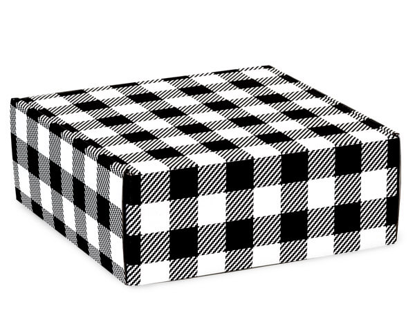 Buffalo Plaid Black Shipping Boxes