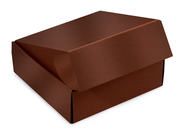 "Chocolate Gourmet Shipping Boxes 8x8x3"" Auto Lock Boxes"