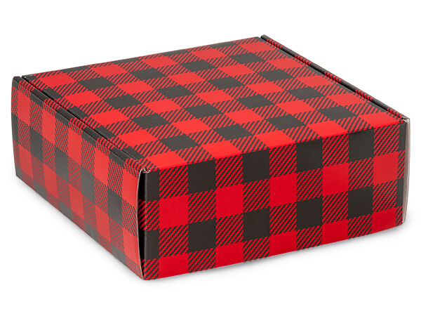 Buffalo Plaid Christmas Shipping Boxes