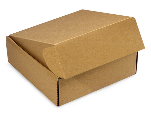"Kraft Gourmet Shipping 8x8x3"" Auto Lock Boxes"