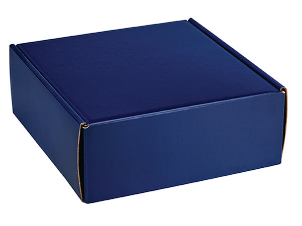 "Navy Blue Gourmet Shipping Boxes, 8x8x3"", 6 Pack"