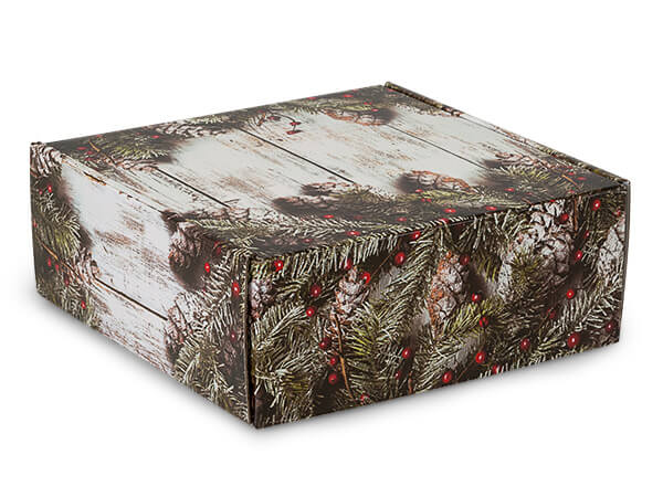 "Rustic Berries Gourmet Shipping 8x8x3"" Auto Lock Boxes"