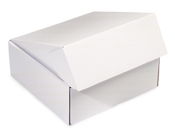 "White Gourmet Shipping Boxes, 8x8x3"", 6 Pack"