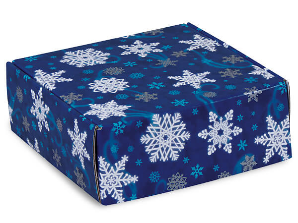 "Winter Wonderland Gourmet Shipping Boxes 8x8x3"" Auto Lock Boxes"