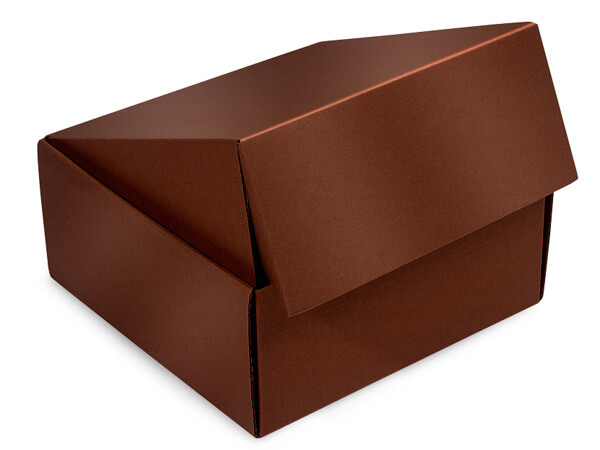 """Chocolate Gourmet Shipping Boxes 9x9x4"""" Auto Lock Boxes"""