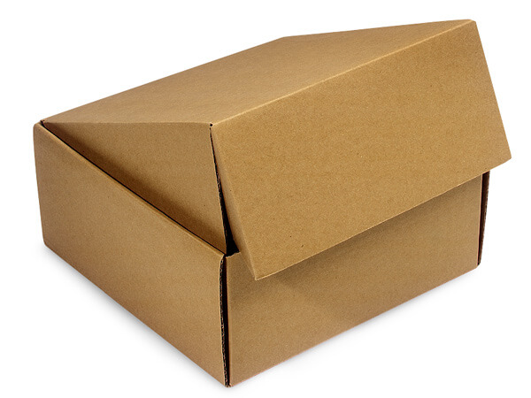 "Brown Kraft Gourmet Shipping Boxes, 9x9x4"", 6 Pack"