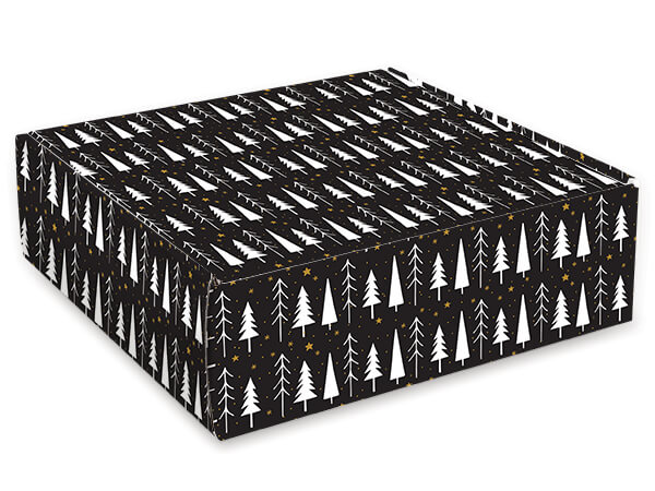 """Merry and Bright Gourmet Shipping Boxes, 9x9x4"""", 6 Pack"""