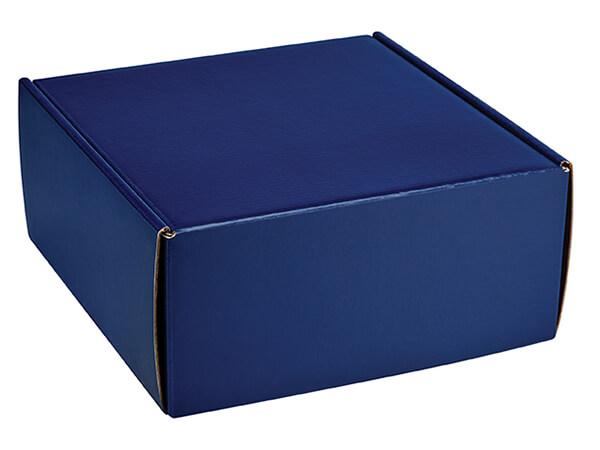 """Navy Blue Gourmet Shipping Box, 9x8.5x4"""", 6 Pack"""