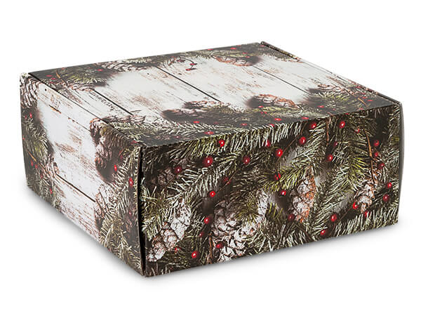 "Rustic Berries Gourmet Shipping 9x9x4"" Auto Lock Boxes"