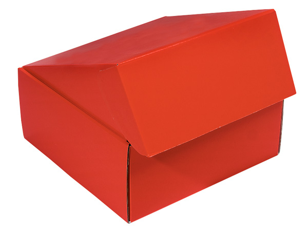 "Red Gourmet Shipping Boxes 9x9x4"" Auto Lock Boxes"
