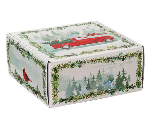 Tree Farm Christmas Truck Gourmet Shipping Boxes