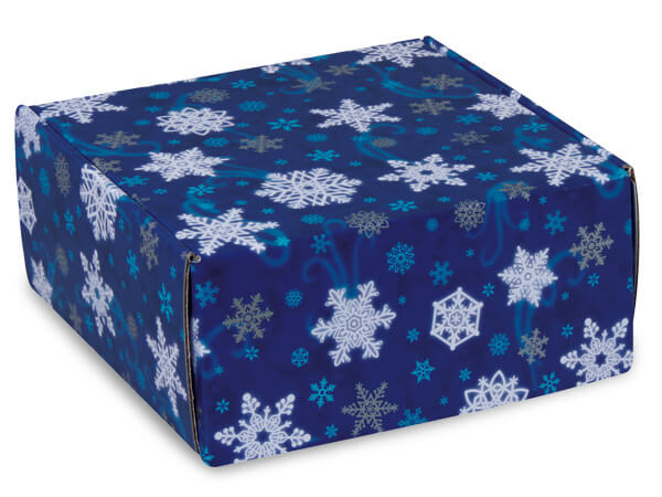 """Winter Wonderland Gourmet Shipping Boxes, 9x9x4"""", 6 Pack"""
