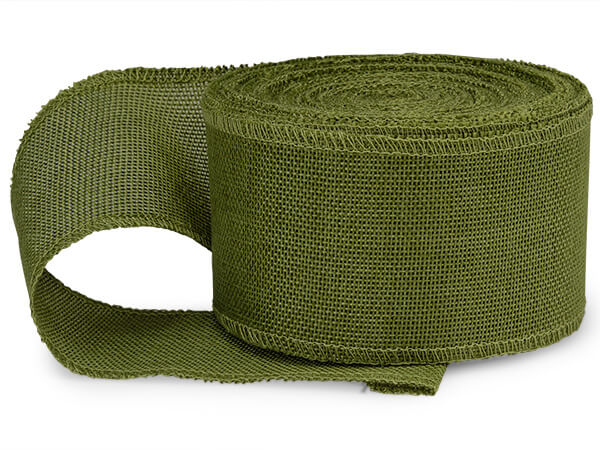 Green Leaf Burlap Ribbon