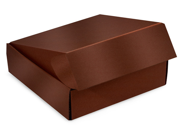 "Chocolate Gourmet Shipping Boxes 12x9x3"" Auto Lock Boxes"
