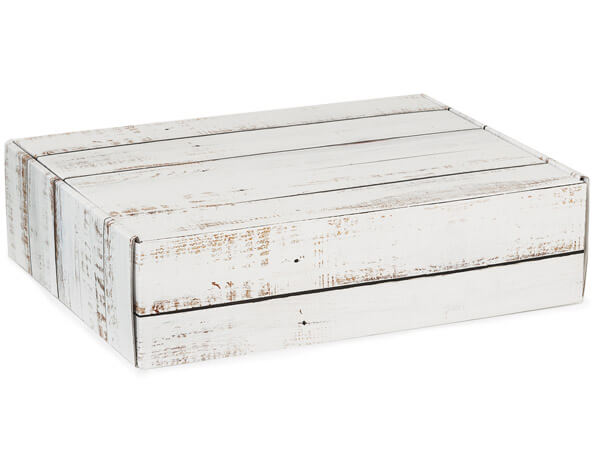 Distressed Wood Gourmet Shipping Boxes