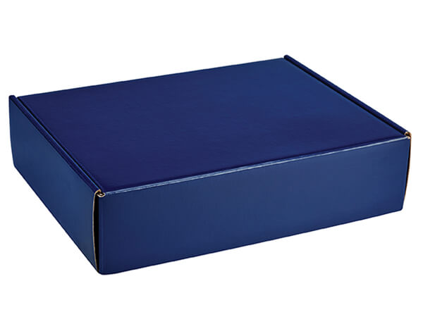 Navy Blue Gourmet Shipping Boxes, 12x11.5x3, 6 Pack