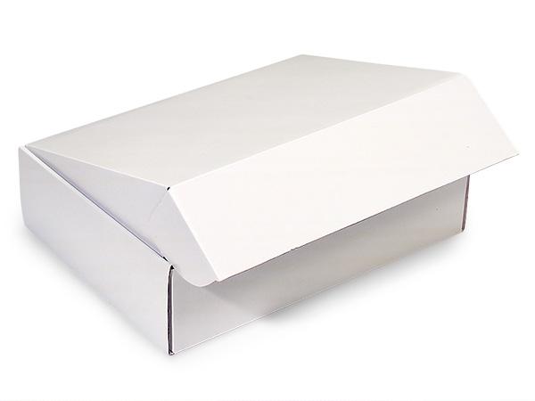 """White Gourmet Shipping Boxes 12x9x3"""" Auto Lock Boxes"""
