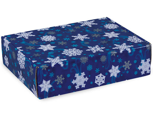 "Winter Wonderland Gourmet Shipping Boxes 12x9x3"" Auto Lock Boxes"