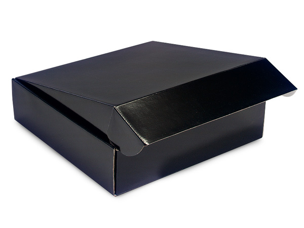 "Black Gourmet Shipping Boxes, 12x12x3"", 6 Pack"