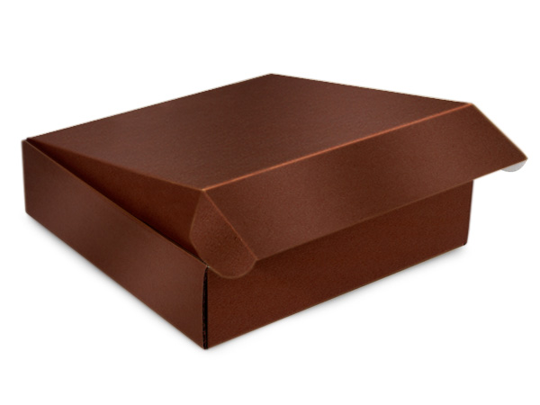 "Chocolate Gourmet Shipping Boxes 12x12x3"" Auto Lock Boxes"