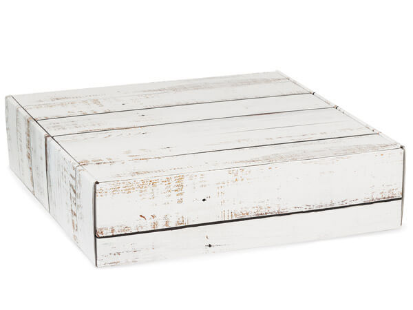 """Distressed Wood Gourmet Shipping Boxes, 12x12x3"""", 6 Pack"""