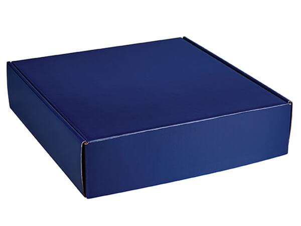 """Navy Blue Gourmet Shipping Boxes, 12x11.5x3"""", 6 Pack"""