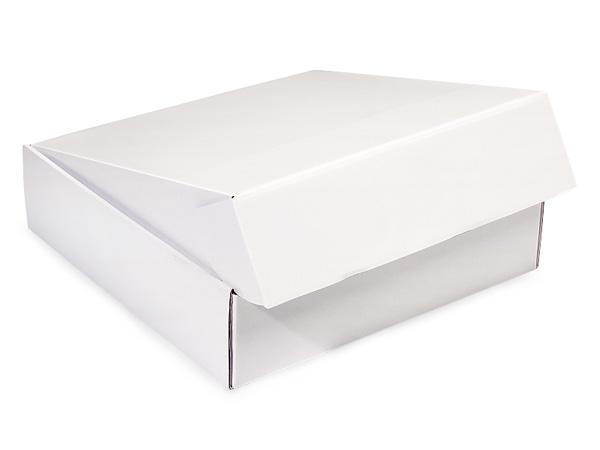 """White Gourmet Shipping Boxes 12x12x3"""" Auto Lock Boxes"""
