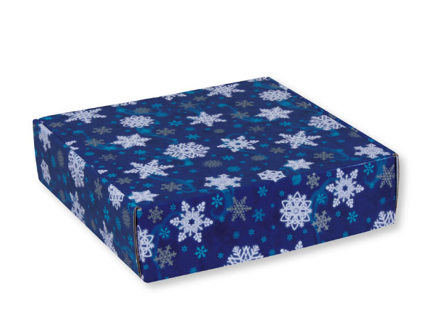 "Winter Wonderland Gourmet Shipping Boxes 12x12x3"" Auto Lock Boxes"