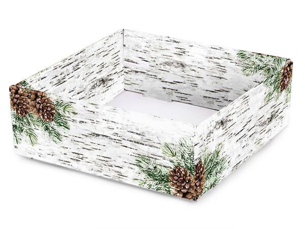 "Birch and Pine Gourmet Decorative 8x8x3"" Corrugated Trays"