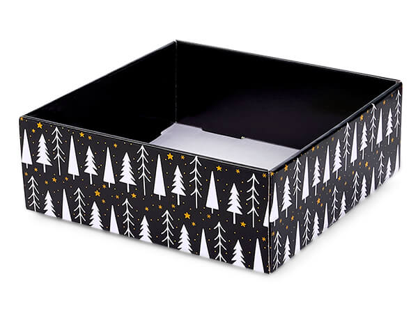 """Merry and Bright Gourmet Decorative 8x8x3"""" Corrugated Trays"""