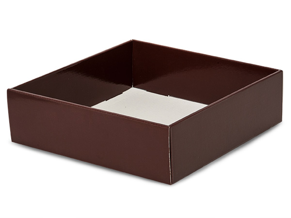 "Chocolate Gourmet Decorative 10x10x3"" Corrugated Trays"
