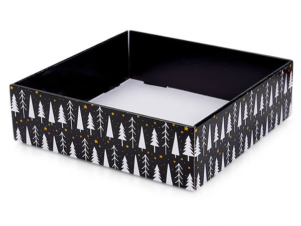 """Merry and Bright Gourmet Decorative Corrugated Tray,10x10x3"""", 6 Pack"""
