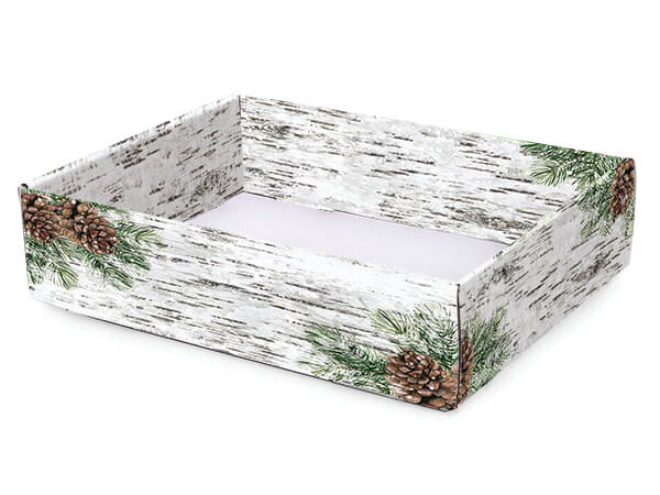 """Birch and Pine Gourmet Decorative Corrugated Tray, 12x9x3"""", 6 Pack"""