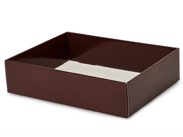 "Chocolate Gourmet Decorative 12x9x3"" Corrugated Trays"