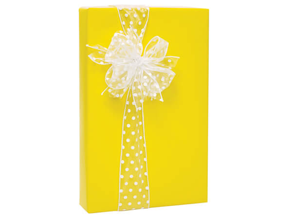 "Yellow Gloss 24""x85' Roll Gift Wrap"
