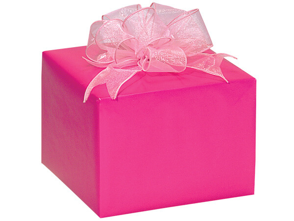 "Hot Pink Gloss 24""x417' Roll Gift Wrap"
