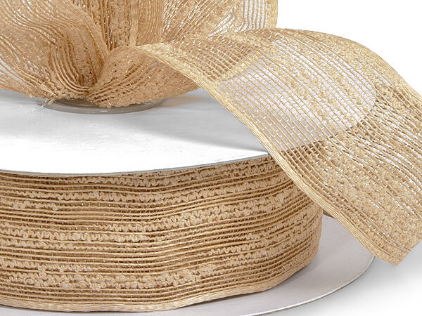 "Natural Birchwood Ribbon, 1-1/2""x25 yards"