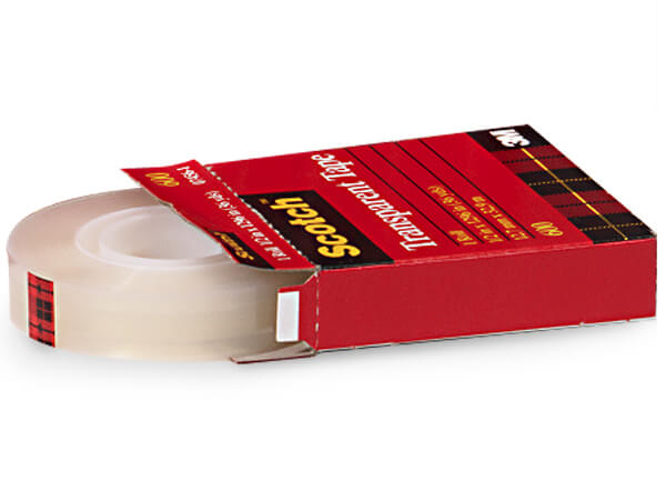 "1/2""x36 yds 3M Clear Scotch Tape, 1"" Core, Single Roll"
