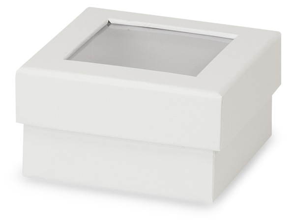 "White Gourmet Rigid Window Box, Petite 3.75x3.75x2"", 24 Pack"