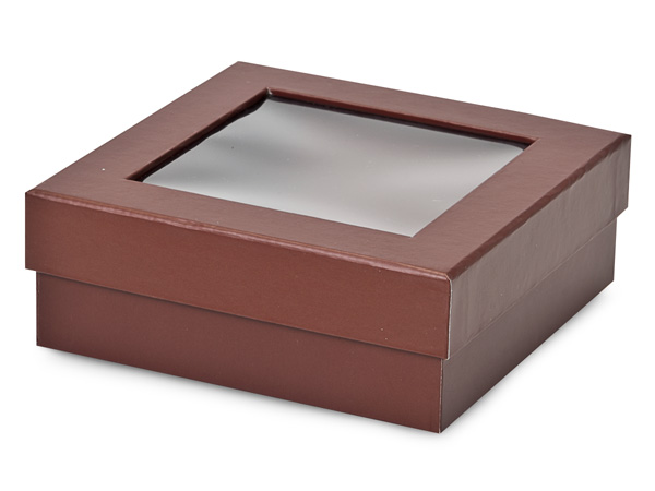 Chocolate Gourmet Rigid Window Boxes