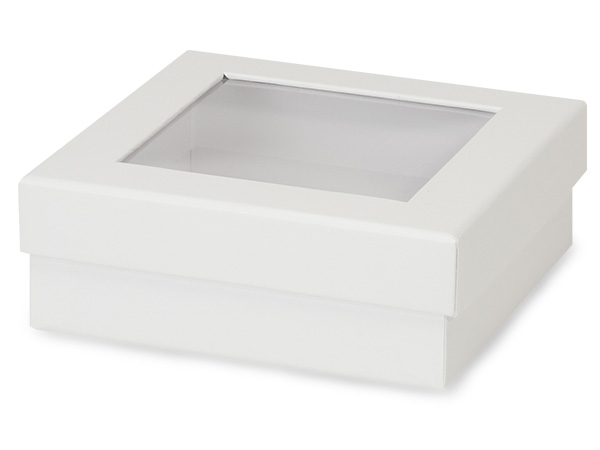 "White Gourmet Rigid Window Box, Medium 5.75x5.75x2"", 24 Pack"