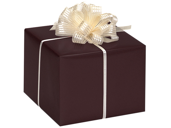 "*Chocolate Gloss 24""x417' Roll Gift Wrap"