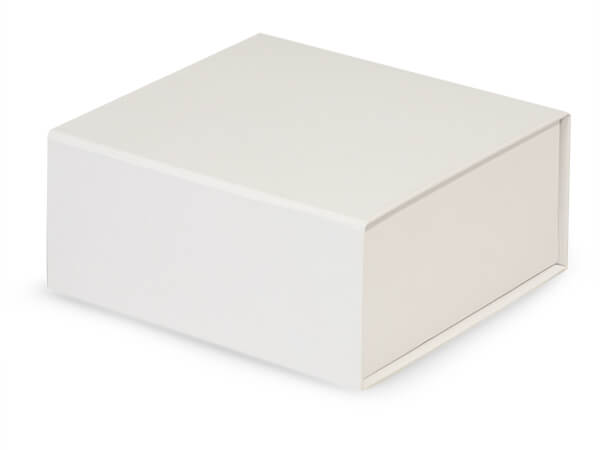 White Magnetic Closure Gift Boxes, 6x6x2.75""