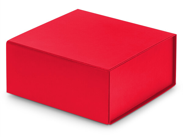 """Red Magnetic Closure Gift Boxes, 6x6x2.75"""""""