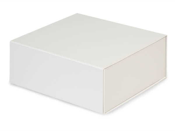 White Magnetic Closure Gift Boxes, 8x8x3.25""