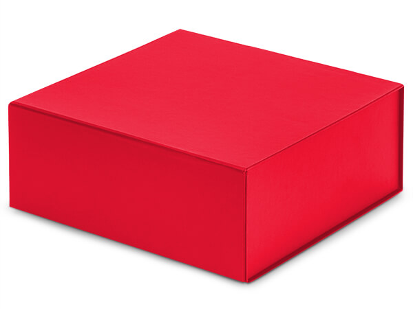 Red Magnetic Closure Gift Boxes, 8x8x3.25""