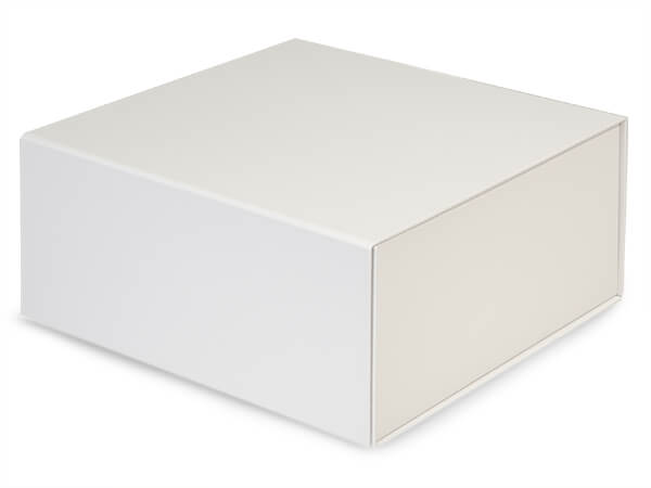 White Magnetic Closure Gift Boxes, 10x10x4.5""