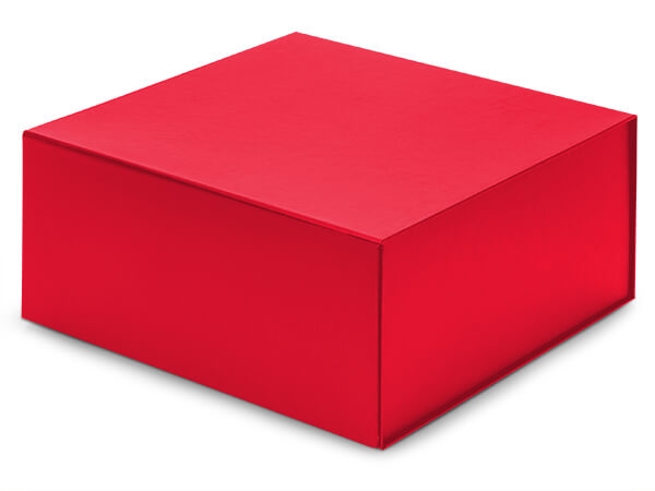 """Red Magnetic Closure Gift Boxes, 10x10x4.5"""""""